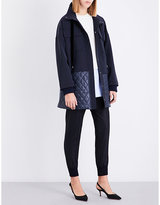 St. John Quilted woven parka coat