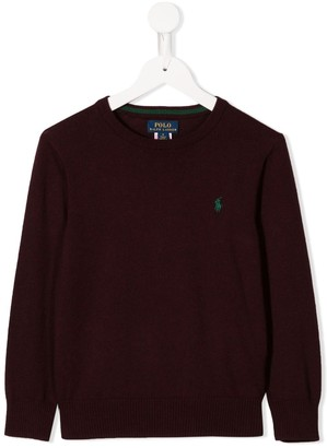 Ralph Lauren Kids Logo Embroidered Jumper