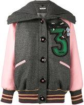 Miu Miu embroidered oversized bomber jacket