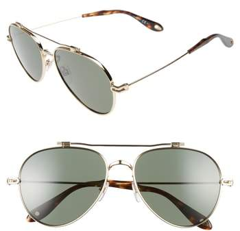 Givenchy 58mm Polarized Aviator Sunglasses