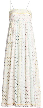 Zimmermann Bellitude Polka Dot Bandeau Midi Dress