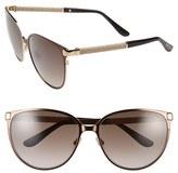 Jimmy Choo Women's 'Posies' 60Mm Cat Eye Sunglasses - Brown