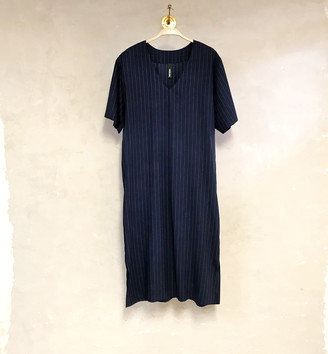 Liebling Malmo - Sparv Blue White Stripe Tencel Dress - XS - Blue
