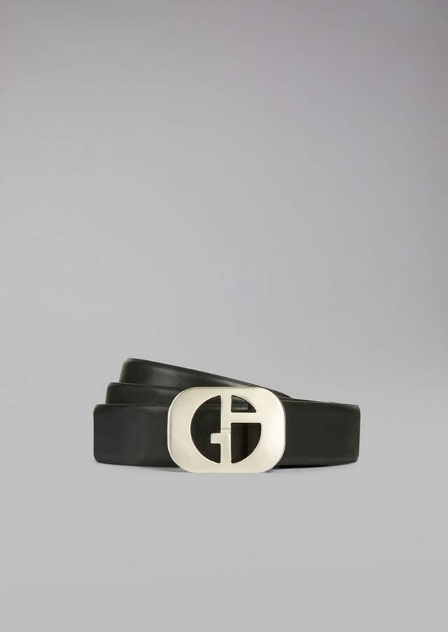 Giorgio Armani Smooth Leather Belt