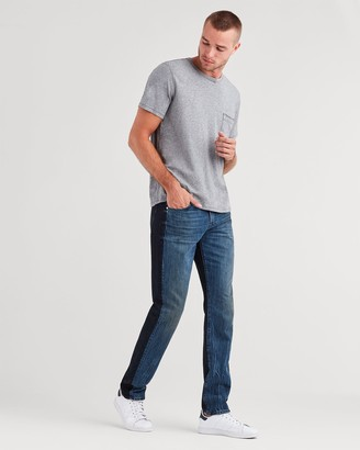 7 For All Mankind Adrien with Clean Pocket and Black Panel Detail in Hybrid