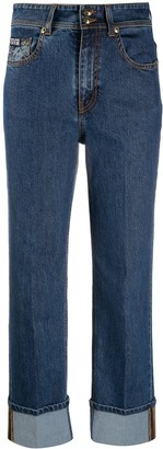 Versace Jeans Couture High-Rise Turn Up Jeans