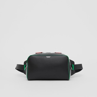Burberry Leather and Vinyl Cube Bum Bag