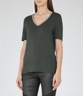Reiss Flossy Embellished T-Shirt