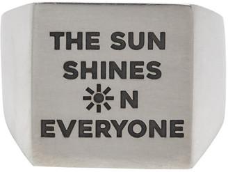 Bleue Burnham Silver Everyone Sun Signet Ring