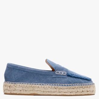 Carmen Saiz Blue Denim Espadrille Loafers