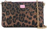 Dolce & Gabbana mini leopard print crepe clutch - women - Cotton/Lamb Skin/Polyester/Polyurethane - One Size