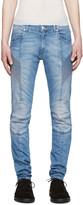 Pierre Balmain Blue Skinny Biker Jeans