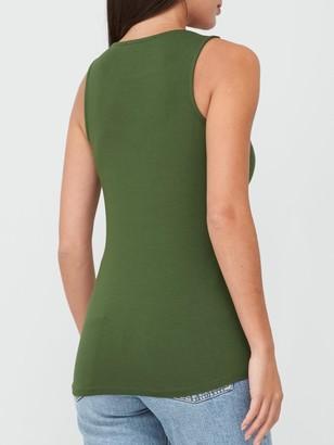 Very Scoop Neck Vest - Khaki