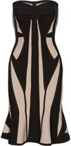 Herve Leger Two-tone bandage dress