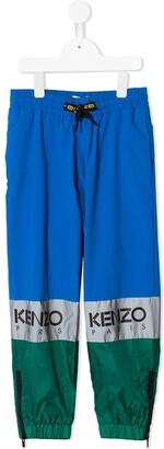 Kenzo Kids Colour-Block Track Trousers