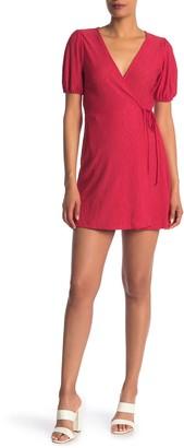 Lush Short Sleeve Soft Knit Wrap Dress