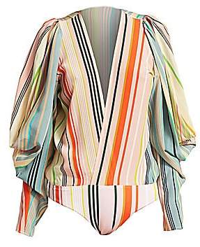 Silvia Tcherassi Women's Calendonia Silk Bodysuit