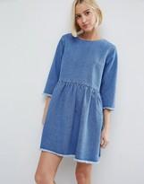 Asos Denim Smock Dress in Midwash Blue