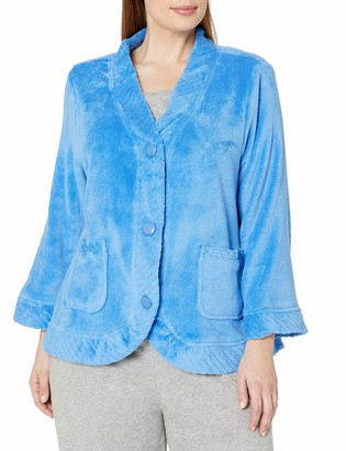 Casual Moments Women's Plus Size Bed Jacket W/Velcro Openings