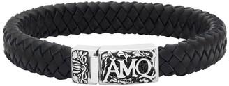 Alexander McQueen Black Amo Braided Bracelet