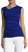 Bailey 44 Ruched Cap Sleeve Twist Top