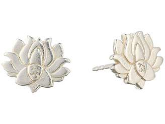 Alex and Ani Post Earrings - Lotus Peace Petals (Sterling Silver) Earring