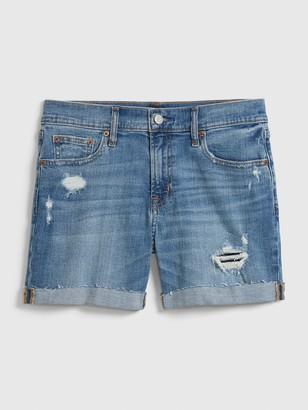 "Gap 5"" Mid Rise Distressed Denim Shorts"