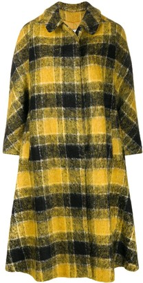 RED Valentino Checked Swing Coat