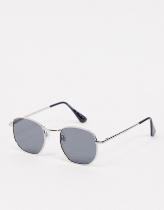 A. J. Morgan AJ Morgan round retro sunglasses in silver
