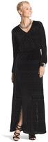 Chico's Velvet Burnout Black Maxi Dress