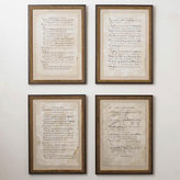 Limited Edition Framed Antique Music Sheet