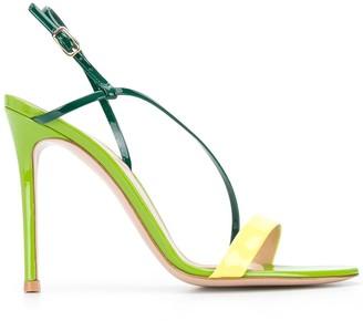 Gianvito Rossi Ric 110mm diagonal strap sandals