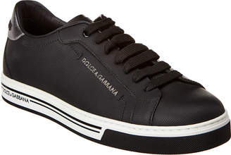 Dolce & Gabbana Roma Rubberized Leather Sneaker