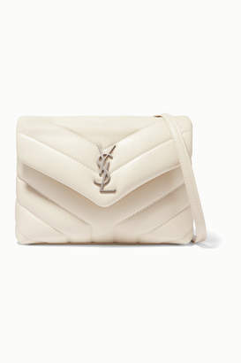 Saint Laurent Loulou Toy Quilted Leather Shoulder Bag - White