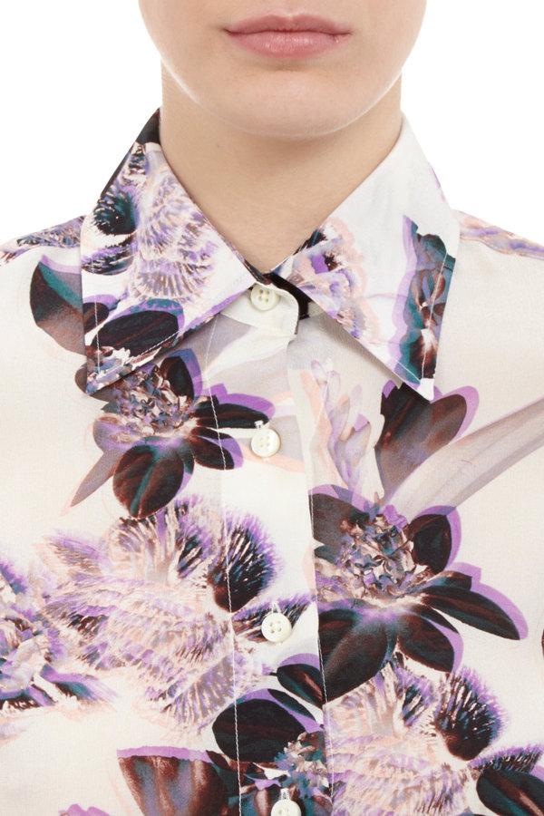 Maison Martin Margiela Vintage Floral-print Blouse