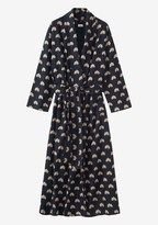 Toast Lotus Print Flannel Gown