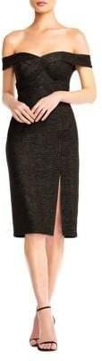 Aidan Mattox Off-Shoulder Sheath Cocktail Dress