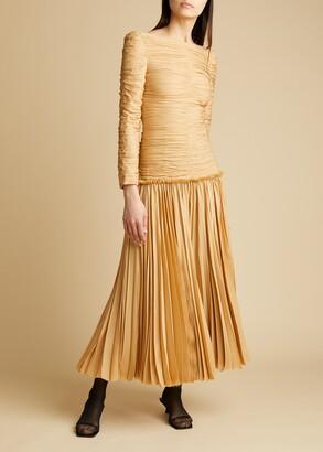 KHAITE The Nanna Dress in Beige