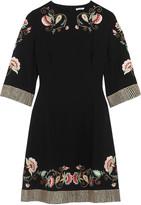 Vilshenko Alessia embroidered crepe dress