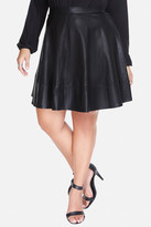 Fashion to Figure Halliday Faux Leather Flare Skirt