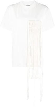 Jil Sander fringed pocket detail T-shirt