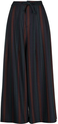 Needles Striped Wide-Leg Trousers