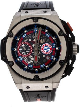 Hublot Skeleton Titanium King Power FC Bayern Munchen Limited Edition Men's Wristwatch 48 mm