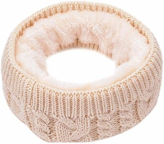 CheChury Women knitted Snood Scarf Loop Circle Infinity Scarf fur Neckerchief Lady Double Layer Thermal Neck Warmer Wrap Scarves