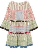 Dodo Bar Or - Tasseled Cotton-gauze Mini Dress - Off-white