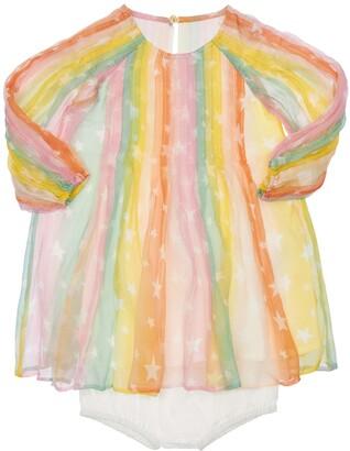Stella McCartney Kids Silk Crepe Dress W/ Diaper Cover