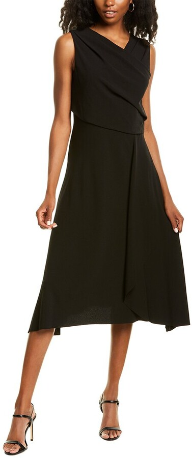 Anne Klein Soft Crepe Midi Dress