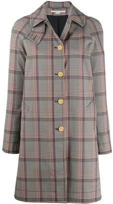 Stella McCartney Single-Breasted Check Coat