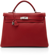 Hermes Heritage Auctions Special Collection 40Cm Rouge Casaque Clemence Leather Retourne Kelly