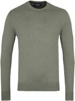 Hackett Gmd Nettle Green Crew Neck Sweater